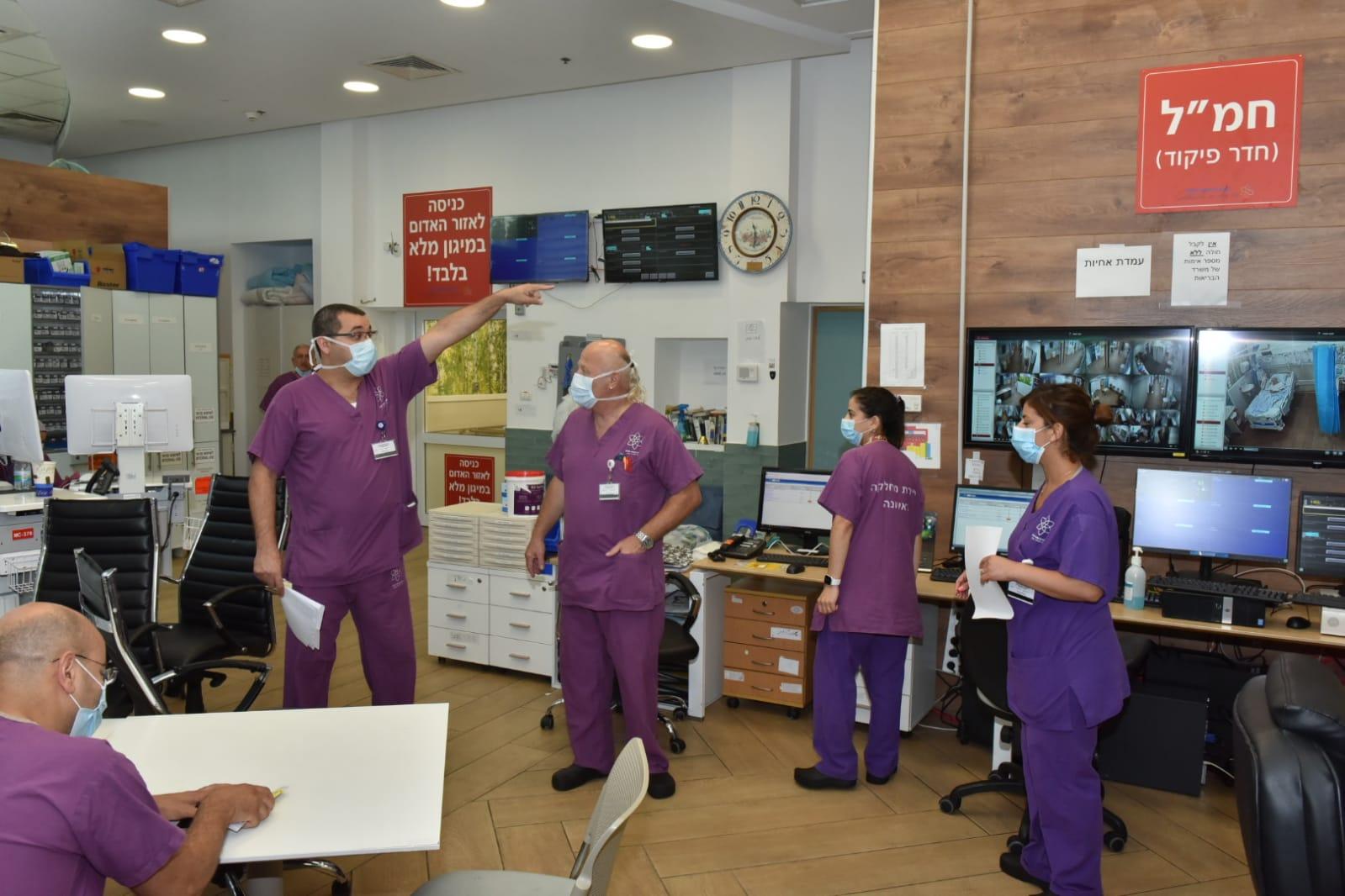 במרכז הרפואי לגליל שבנהריה נפתחה מחדש מחלקת הקורונה