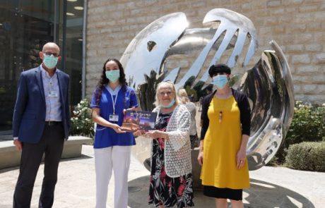 מתנדבת שירות לאומי התנדבה לטפל בחולי קורונה זכתה באות נשיא המדינה למתנדב
