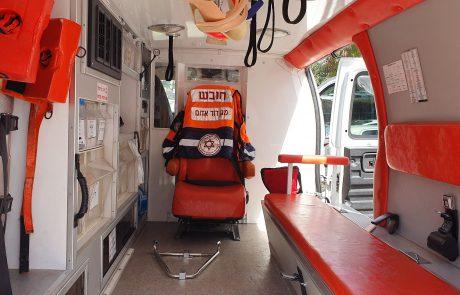 """אמבולנס מד""""א עבור חולי קורונה עם הפרדה אטומה בין תא הנהג לתא הנוסעים"""