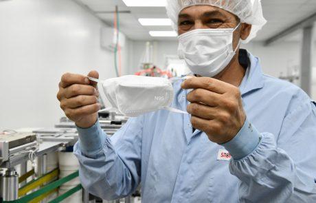 קו ייצור הראשון בישראל למסכות N95